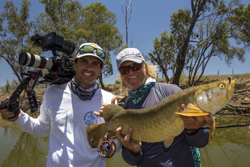 Kameramann Benny Godfrey hat tolle Aufnahmen von Angler Brett Wilson auf der Kamera festgehalten. Foto: Rise Fly Fishing