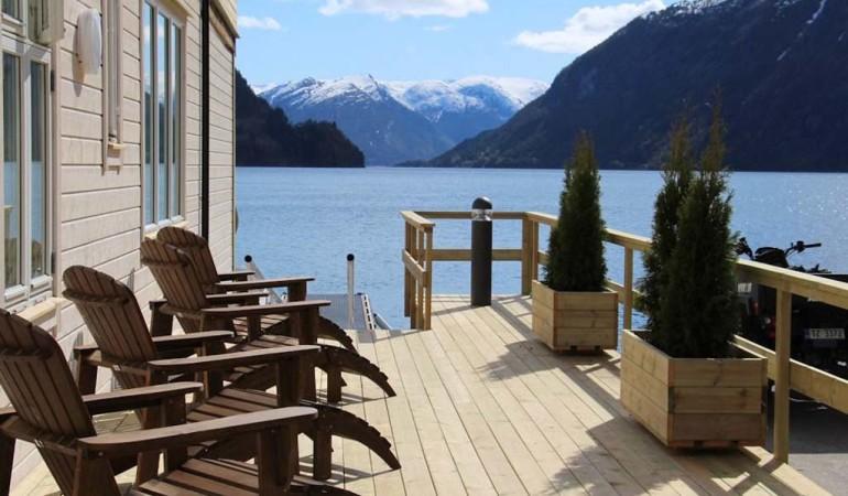 Angelurlaub Norwegen am Ferienplatz am Vadheimsfjord