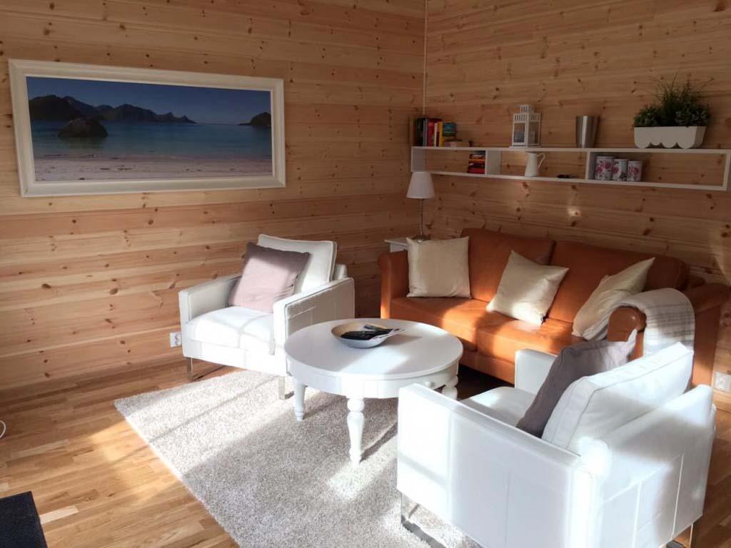 Moderne und gemütliche Innenausstattung erwarte die Gäste im Ferienhaus. Foto: Borks
