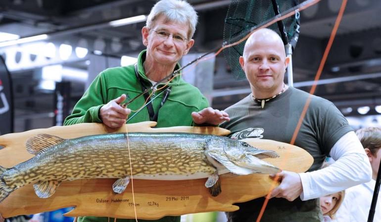 Wie fängt man solche großen Hechte mit der Fliegenrute? Auf der Messe-Reiten-Jagen-Fischen-2017 in Erfurt erfahrt Ihr es. Foto: Messe Erfurt