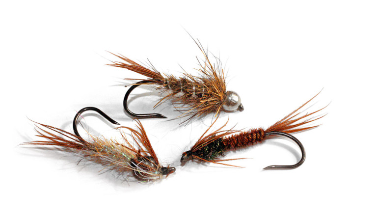 Unbeschwerte oder nur leicht beschwerte Nymphen aus der Forellenbox, die mögen nicht nur Forellen. Foto: M. Werner