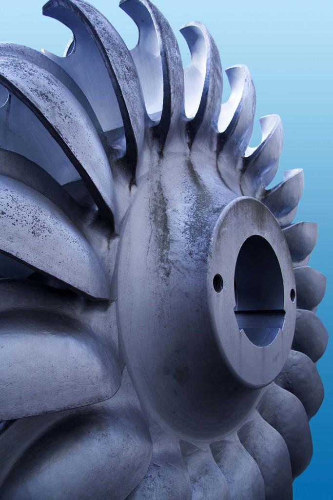 Auch wenn so ein Turbinenrad durch Gitter geschützt ist, für Aale stellt diese Schutzbarriere keinen wirklichen Schutz dar. Foto: px