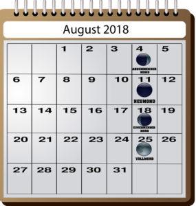 Mondkalender für Angler - August