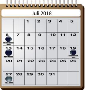 Mondkalender für Angler - Juli