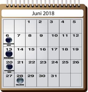 Mondkalender für Angler - Juni