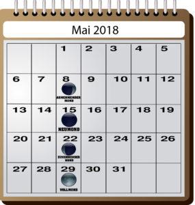 Mondkalender für Angler - Mai