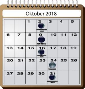Mondkalender für Angler - Oktober