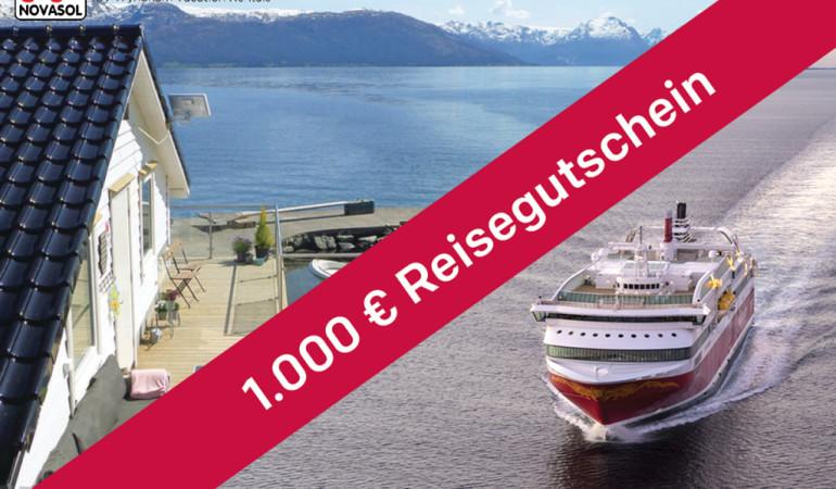 Reisegutschein_1000 Euro Novasol Fjord Line