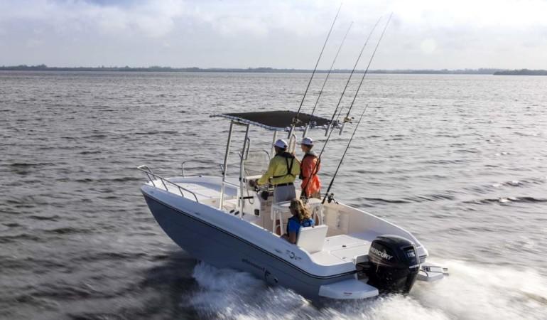 boot 2017: Bayliner überraschte auf der boot mit einem schicken neuen Angelboot zu einem sehr attraktiven Preis. Foto:privat