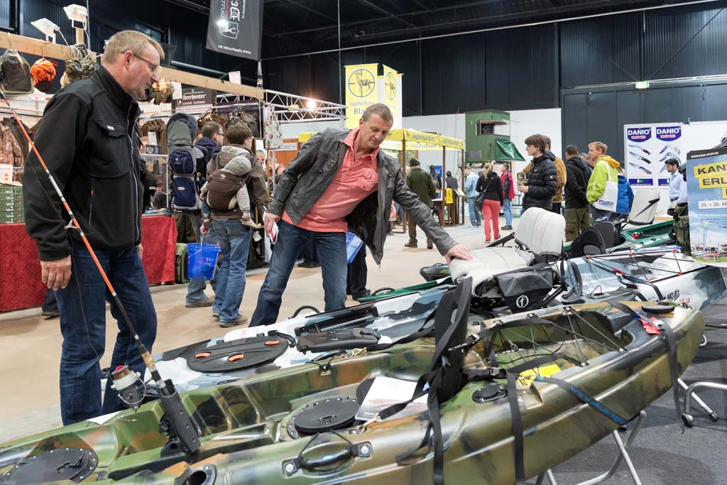 Wer sich überlegt ein Angelkajak zuzulegen, der ist auf der Messe Wild & Fisch genau richtig. Foto: Messe Offenburg / BRAXART