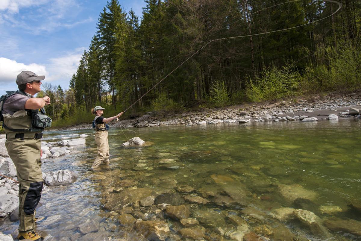 Fliegenfischen im Bregenzerwald im Vorarlberg in Österreich. © Michael Namberger_Bregenzerwald Tourismus