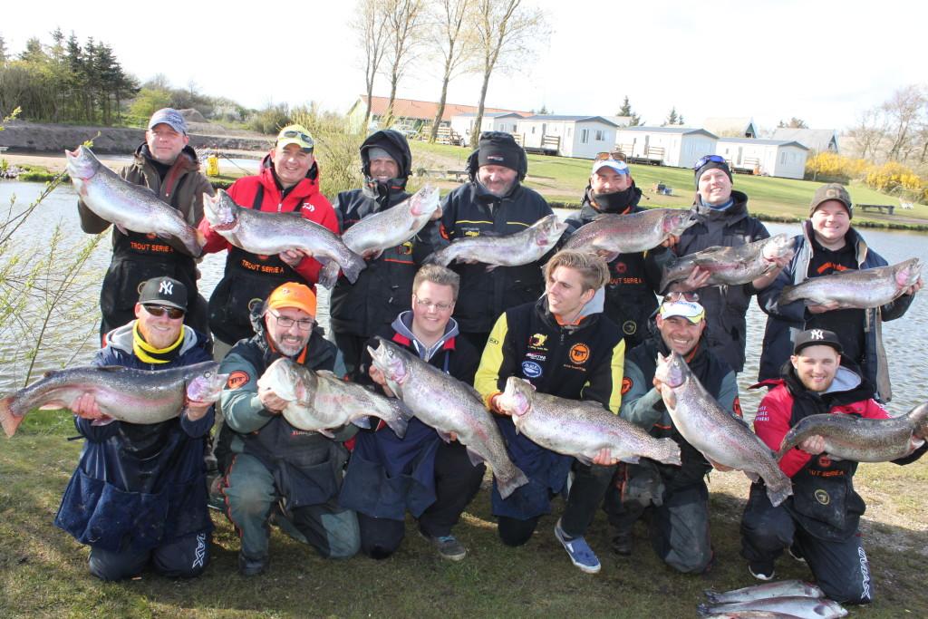 Auf dem TFT Big Cash Trout Cup wurden trotz wechselhaftem Wetter tolle Forellen gefangen. Foto: ww.teamtft.de