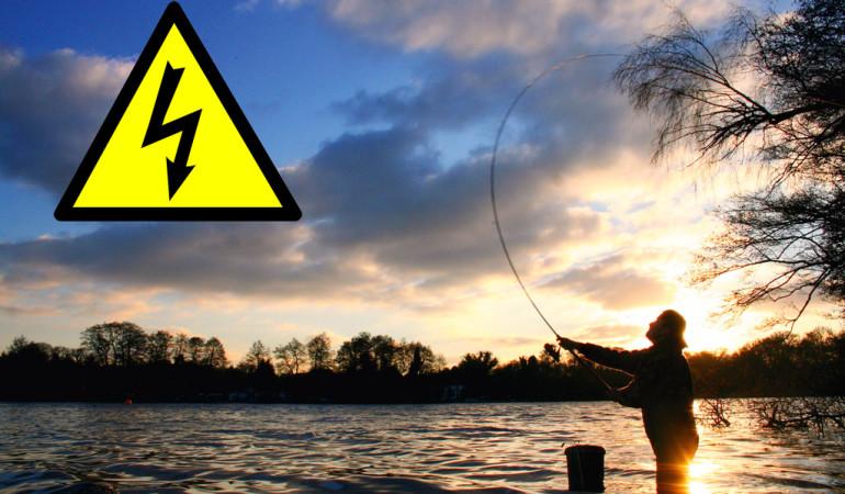 Stromschlag beim Angeln: Das Angeln unter Stromleitungen kann lebensgefährlich sein. Foto: BLINKER/D. Charmen