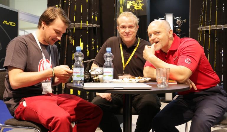 Gute Laune hatten Dietmar Isaiasch und Adrian Prus von Zebco auf der EFTTEX 2017.