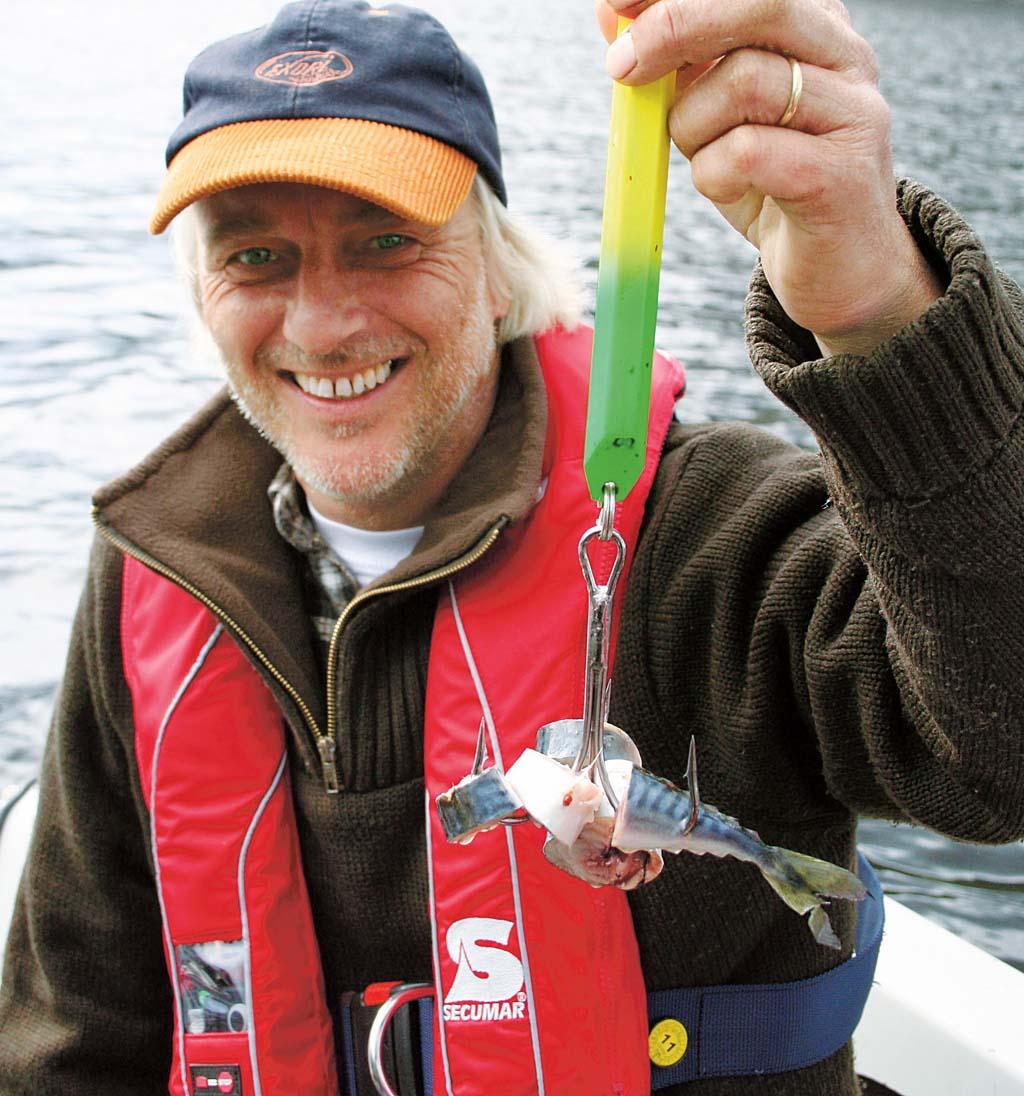 Der Pilker ist mit Makrelen gespickt und bereit für die großen Lengs. Foto: BLINKER/Duwe