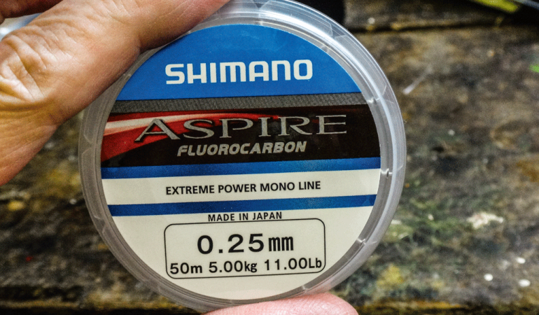 Jeder Tester bekommt eine 50-m-Spule des Aspire-Fluorocarbons in Stärke 0,25 mm.