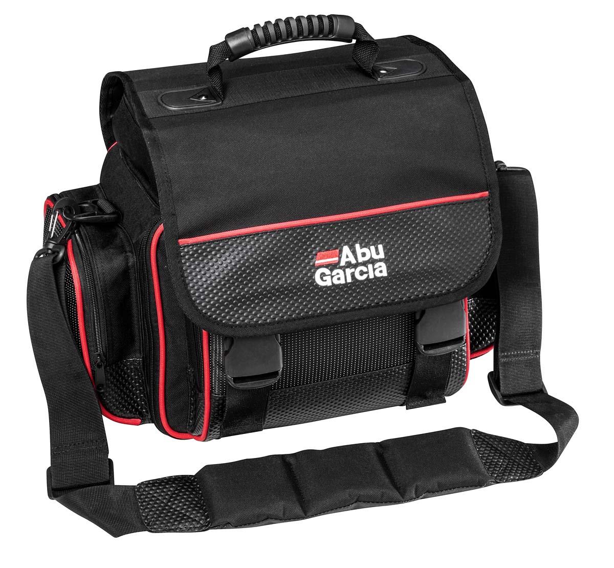 Tackle Box Bag System – Umhängetasche mit Tragegriff und vier Zubehörboxen.