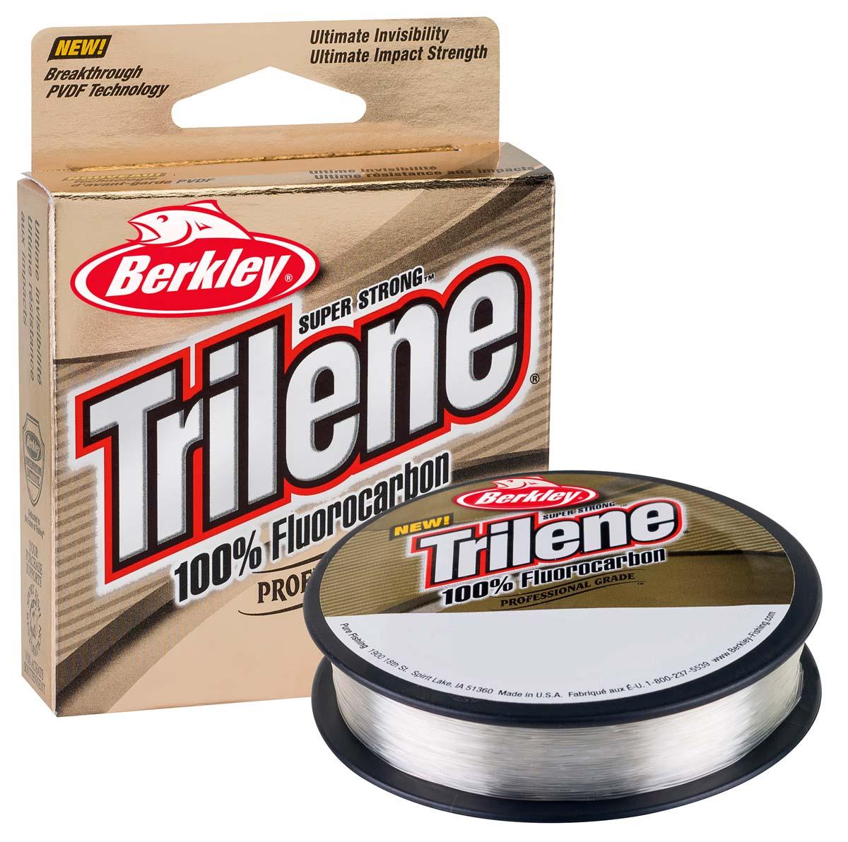 Trilene Fluorocarbon – abriebfestes und nahezu unsichtbares Vorfachmaterial.