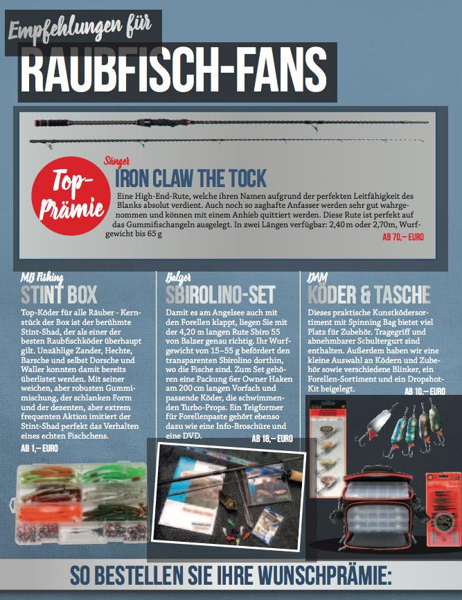 praemienkatalog 2017 BLINKER Magazin