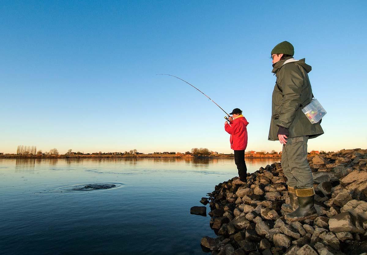 Im Winter nur im tiefen Wasser zu suchen, ist ein weiterer Fehler beim Zanderangeln. Die Zander können in Flüssen auch direkt vor den Füßen beißen. Foto: BLINKER/W. Krause