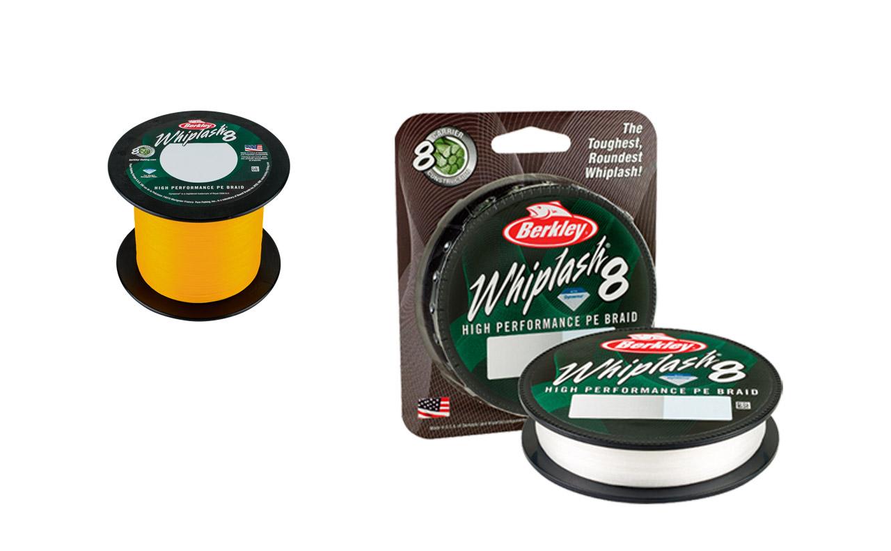 Die neue Whiplash 8 ist in den Farben Gelb, Grün, Weiß sowie als 300 Meter und auf der 2000-Meter-Großspule erhältlich.