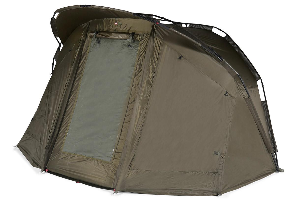 """Das """"Defender-Peak-Bivvy"""" von JRC bietet bei verschiedenen Wetterlagen den besten Schutz."""