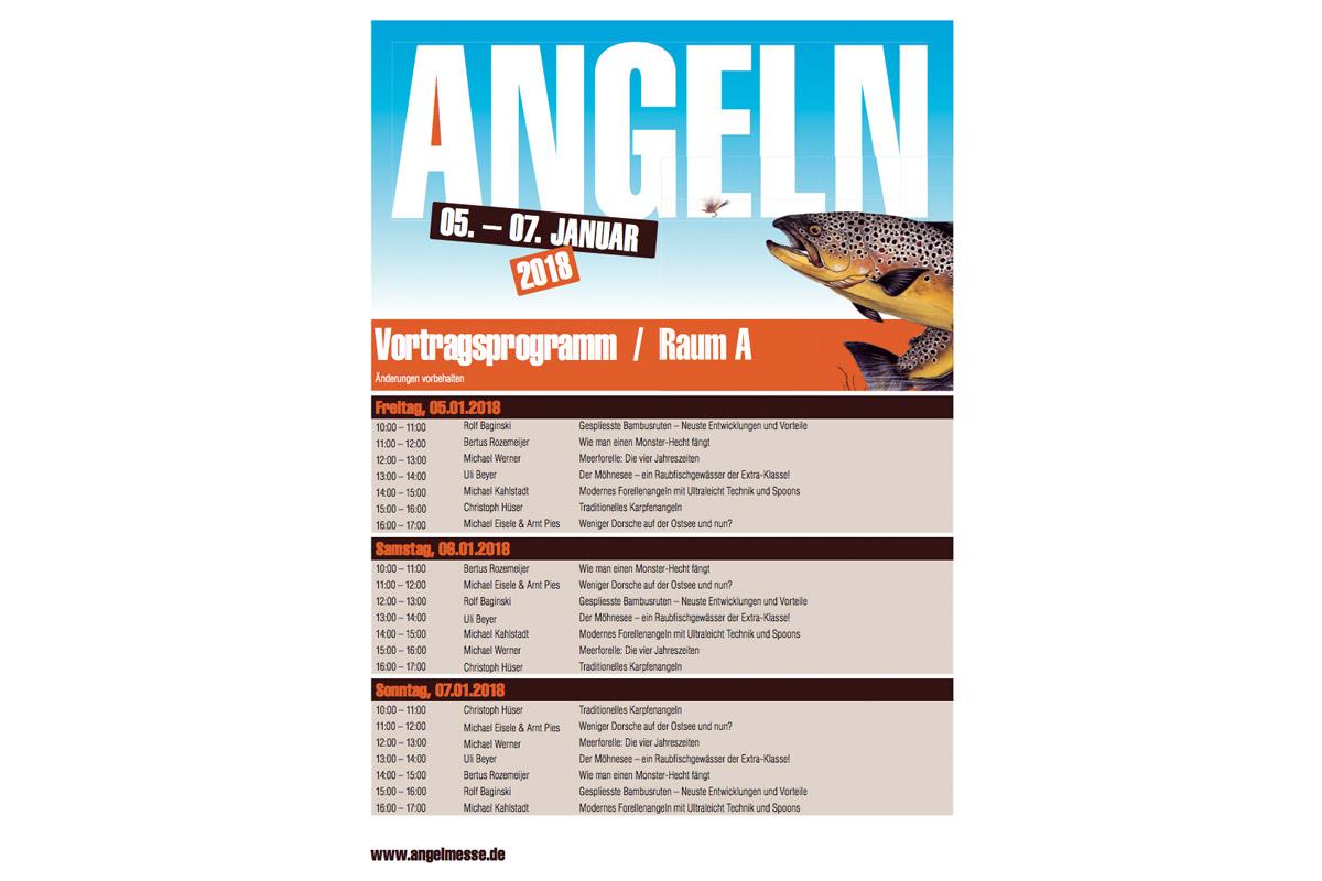 """Das Rahmenprogramm der Messe """"ANGELN 2018"""" im Überblick."""
