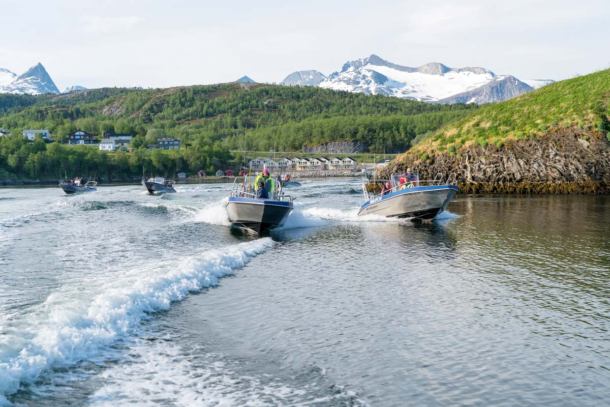 Jeden Morgen rückte die Flotte der Anlage aus zu den besten Fangplätzen. FOTO: A. Seiberlich,/Angelreisen Hamburg