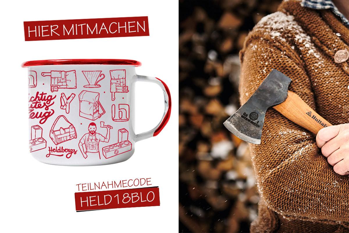 Gewinnt Emaille-Tassen-Set von HELDBERGS.