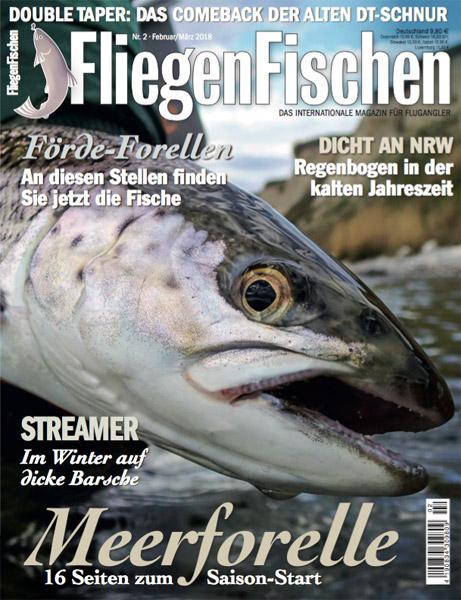 Zwei Titel, der gleiche Inhalt! Diese Ausgabe vom FliegenFischen-Magazin bekommen Sie, je nach Region, mit zwei unterschiedlichen Titeln. Dieser hier, ist für den Norden. Eben typisch Meerforelle.