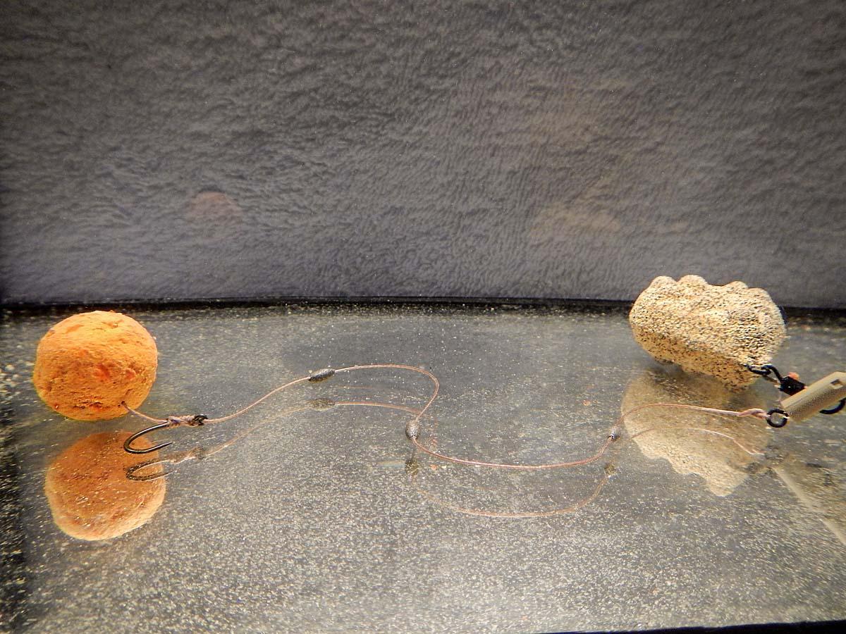 Tiefe Einblicke auf den Gewässergrund: Ein weiches Vorfach liegt meist nicht gestreckt auf dem Boden. Das kann in schwierigen Gewässern ein Problem sein, denn der Karpfen hat nach der Köderaufnahme Gelegenheit, den Haken wieder auszuspucken. Foto: G. Bradler