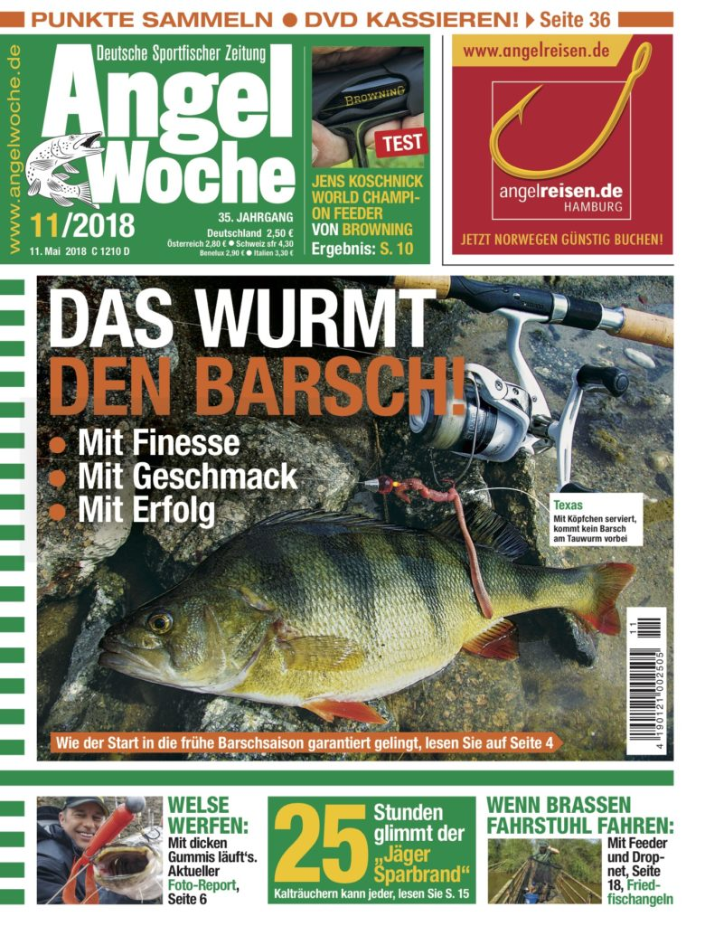 Die AngelWoche Ausgabe 11/2018 erscheint.