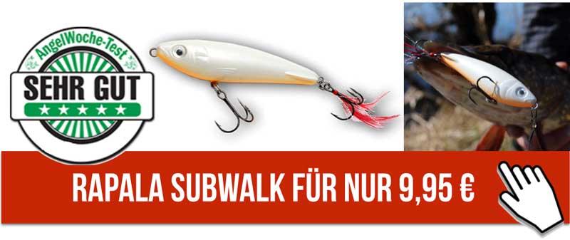 Rapala Subwalk - Ein Hechtköder, zum super Sonderpreis.
