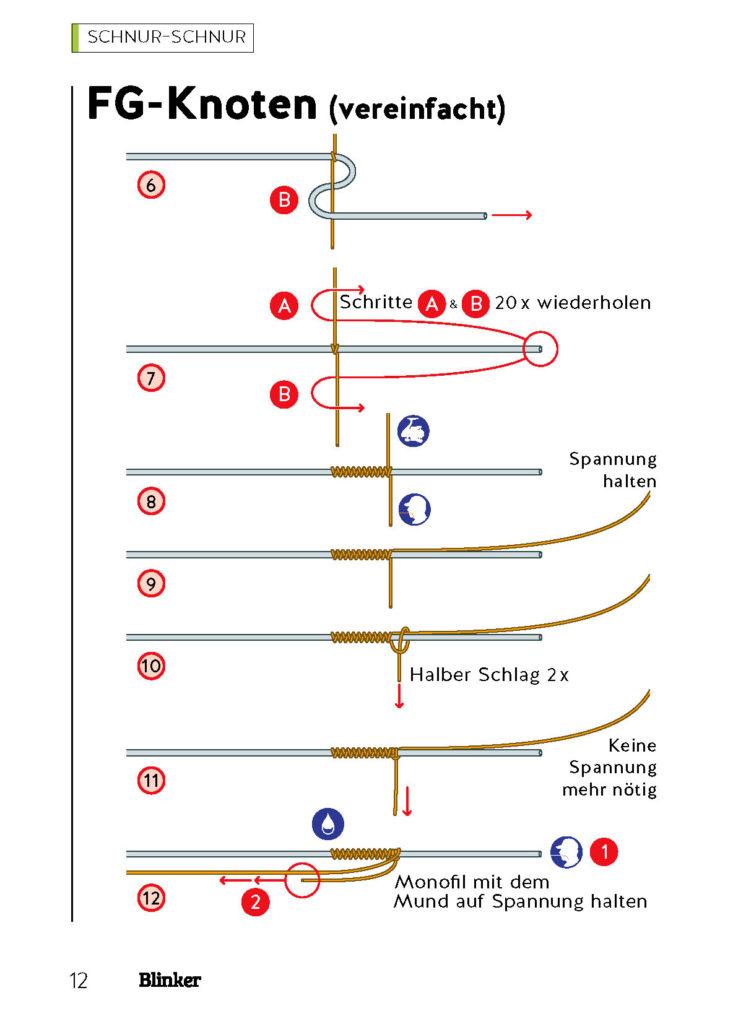 Der FG-Knoten ist schwierig, aber zuverlässig.