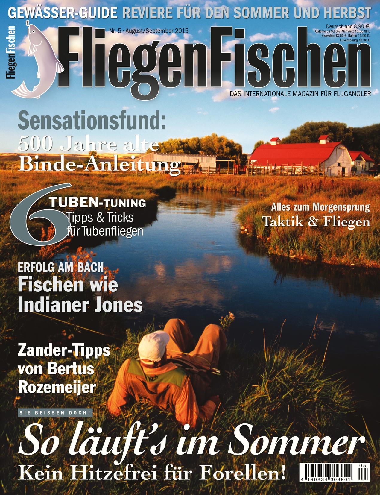 Mehr zum Fliegenfischen an der Deutschen Traun lesen Sie in FliegenFischen Ausgabe 5-15
