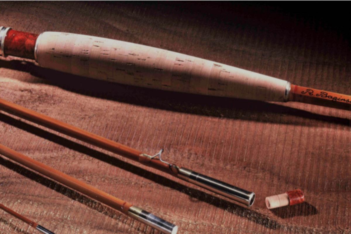 Rutenbauer Treffen: Eine gespließte Fliegenrute, eine Westwind Rolf Baginski. Beim Treffen der Rutenbauer geht es um die Anfertigung solcher Fliegenruten aus Bambus.