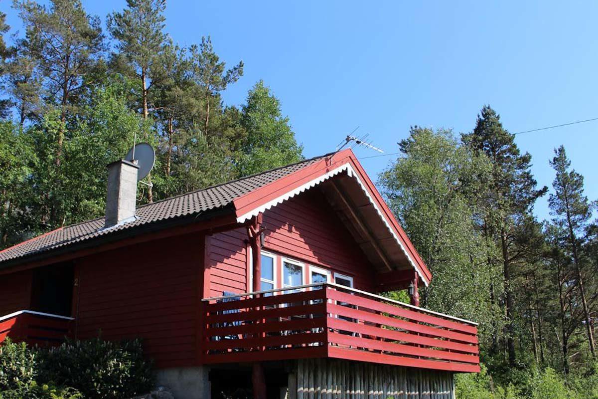 Bei Eurem Angelurlaub am Bømlofjord in Norwegen steht Euch dieses gemütliche und großzügig geschnittene Ferienhaus zur Verfügung. Foto: Borks