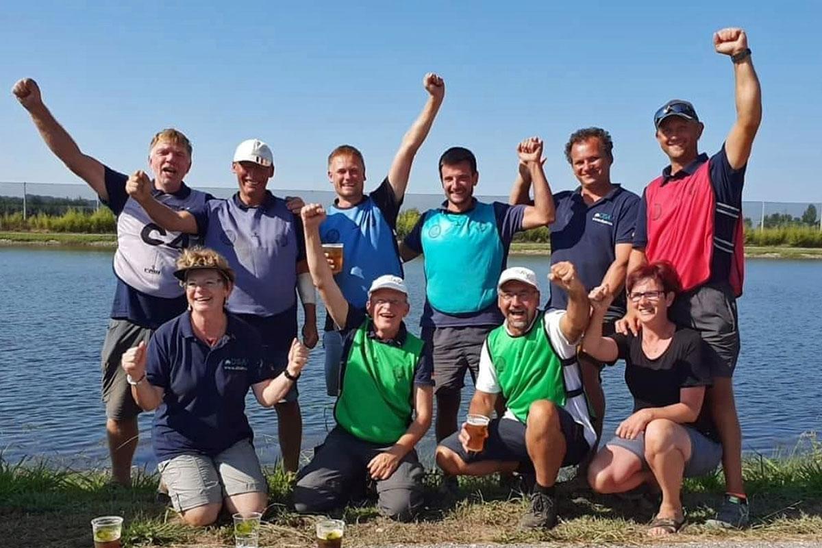 Das deutsche Team hat allen Grund zum Jubeln. Neben dem Einzeltitel kam auch noch die Mannschaft zum Weltmeistertitel. Foto: FTM