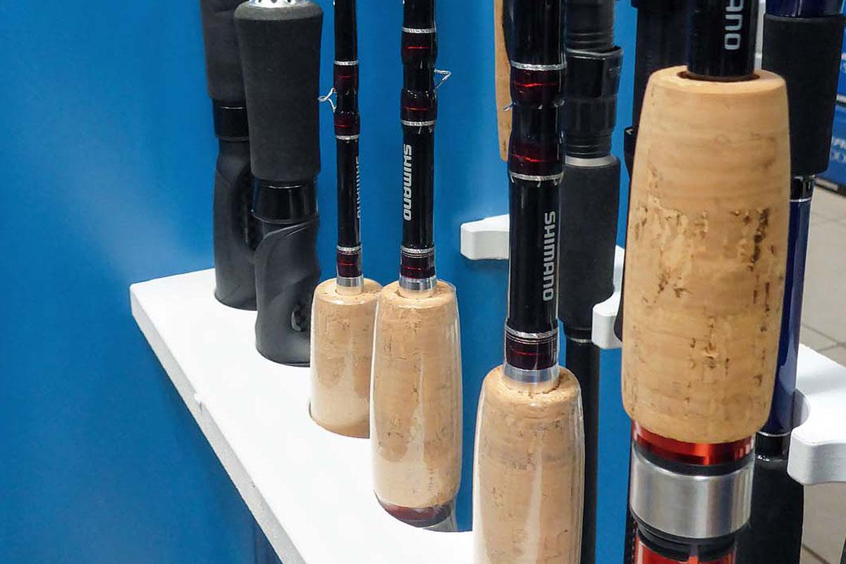 Rutengriffe sind aus unterschiedlichen Materialien gefertigt – traditionell aus natürlichem Kork, modernere Varianten aus festem Schaumstoff. Foto: J. Pusch