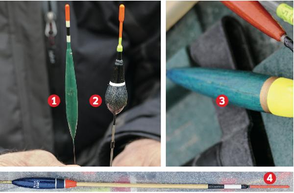 Abhängig von Gewässertyp und Anwendung gibt es verschiedene Grundformen von Posen. Foto: J. Pusch