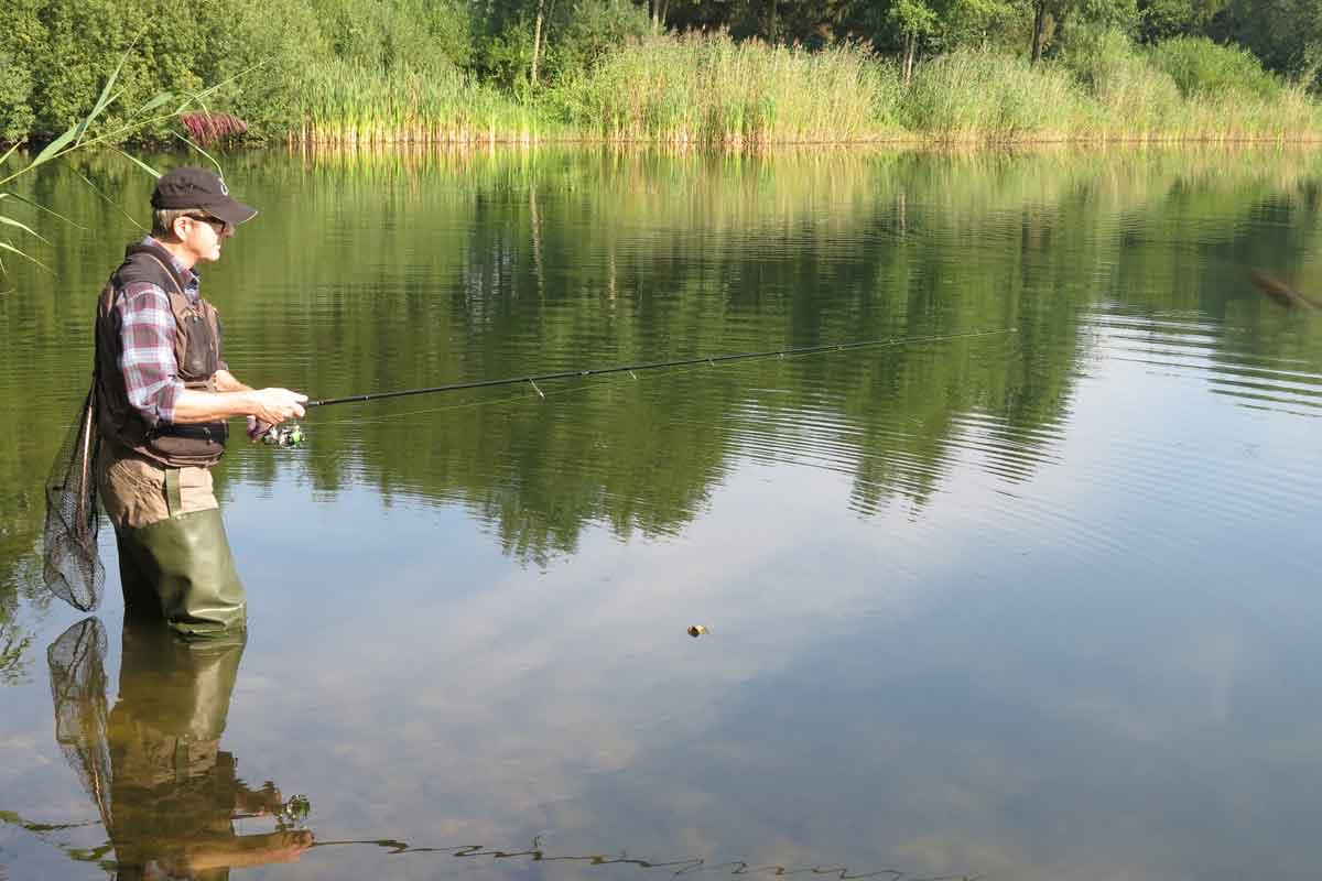 Wenn an einem Gewässer eine Blaualge-Blüte stattfindet, sollte man dort lieber nicht angeln. Foto: Archiv/R.Schwarzer