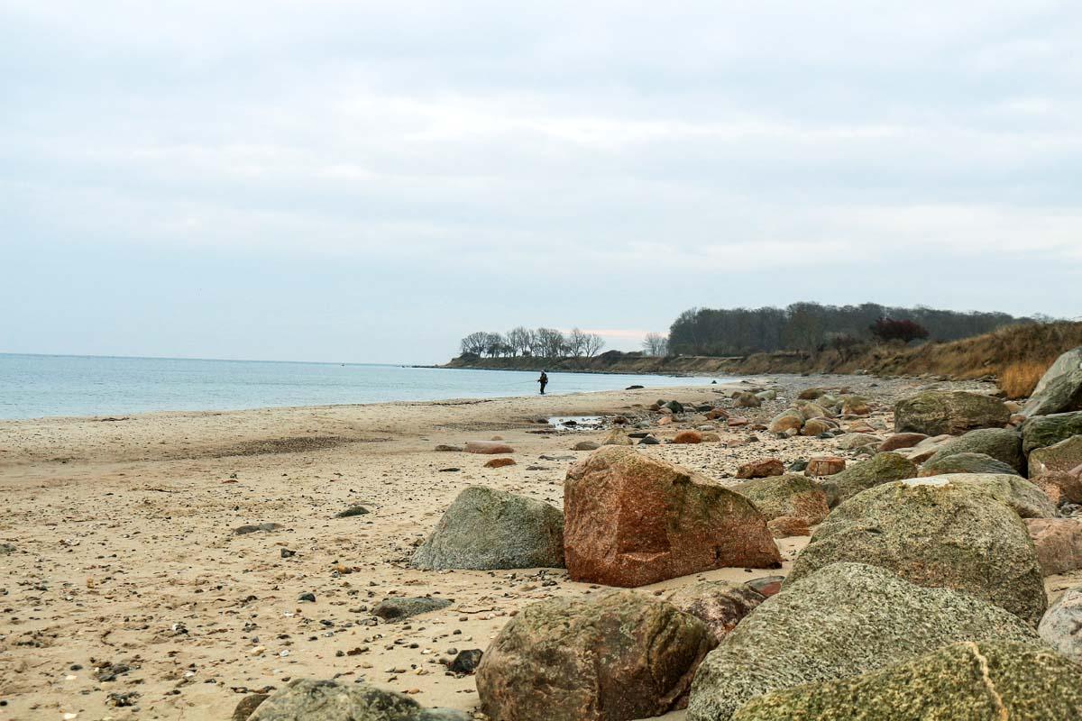 Der Strand bei Staberhuk ist bekannt für große Meerforellen! Foto: Blinker/Lars Berding