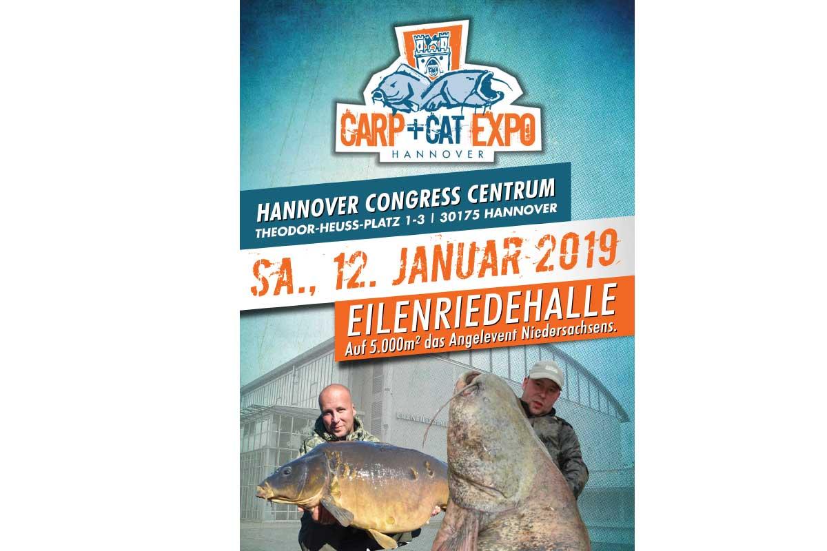 Die Carp+Cat Expo 2019 findet in der Eilenriedehalle in Hannover statt.