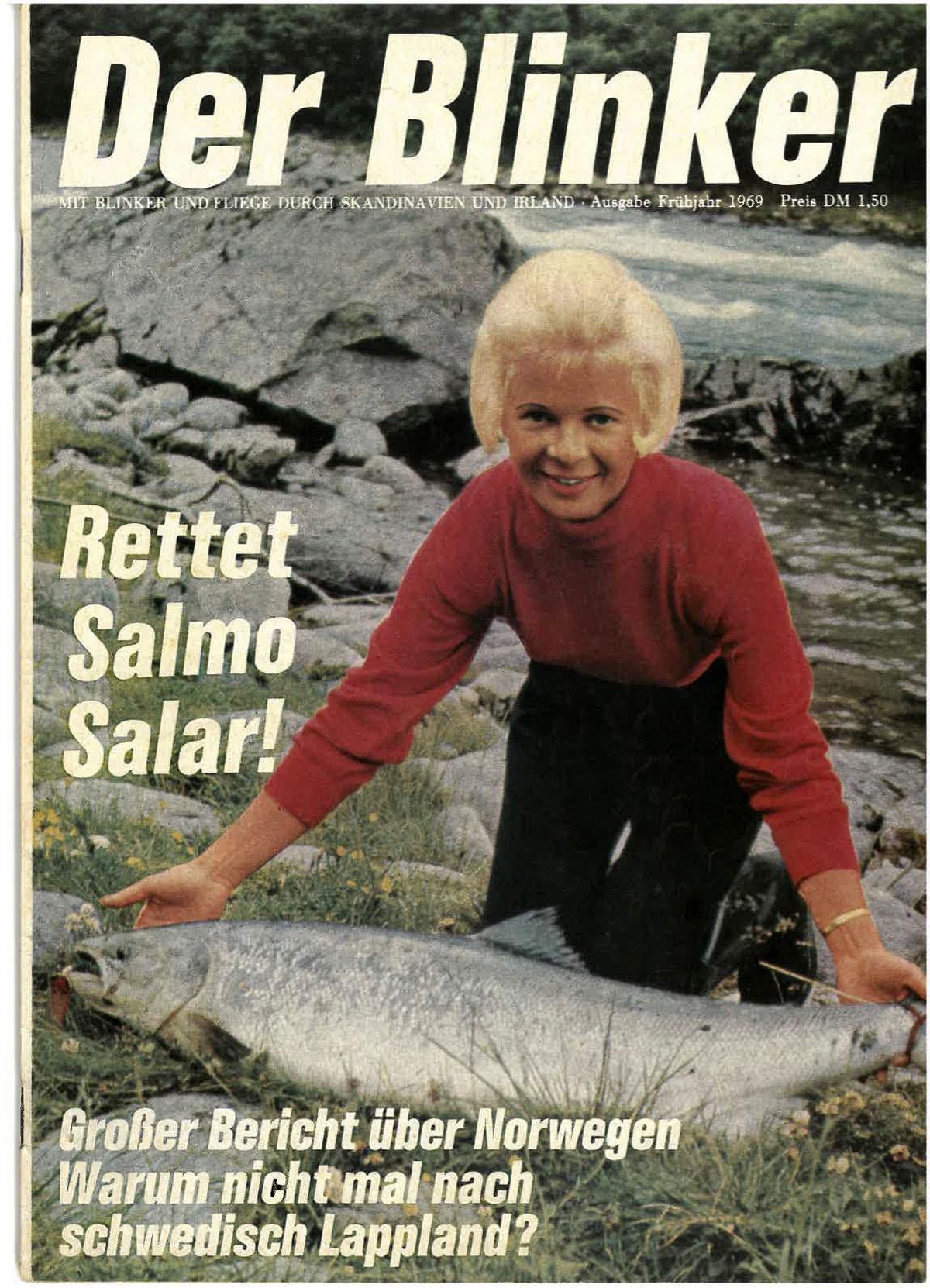 Lachsangeln in Skandinavien – schon auf dem Titelbild der ersten BLINKER-Ausgabe zeigt sich, worum es im neuen Magazin gehen soll. Bild: BLINKER