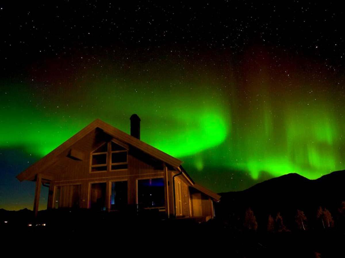 In den Wintermonaten kann man das Naturschauspiel Polarlichter erleben. Foto: BORKS