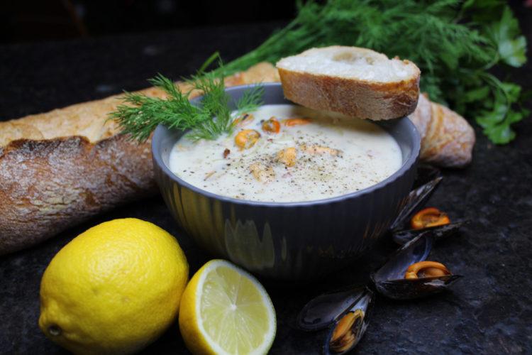 Clam Chowder ist eine köstliche Muschelsuppe, die nicht nur gut aussieht, sondern auch richtig lecker schmeckt. Foto: Matthias Würfl