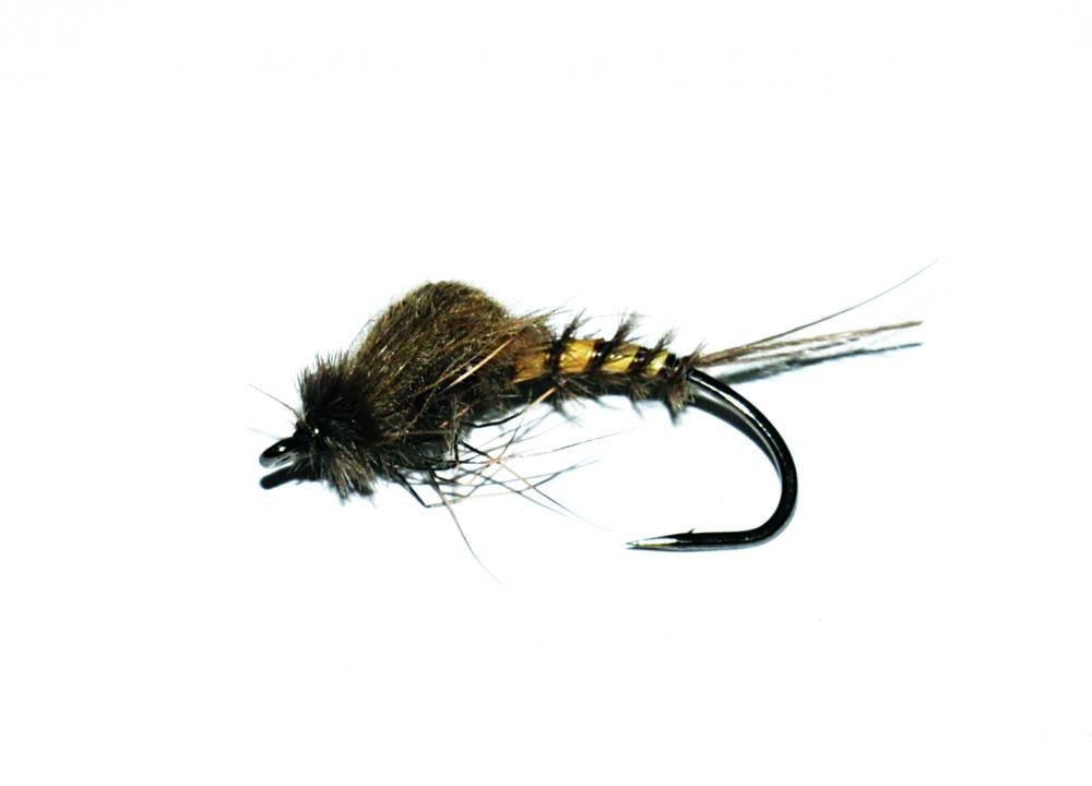 Das ist er, der Maifliegen-Aufsteiger (Emerger). Dieses Muster können Sie auch auf kleineren Haken binden und als Imitation kleinerer Eintagsfliegen verwenden. Foto: J. Hanson