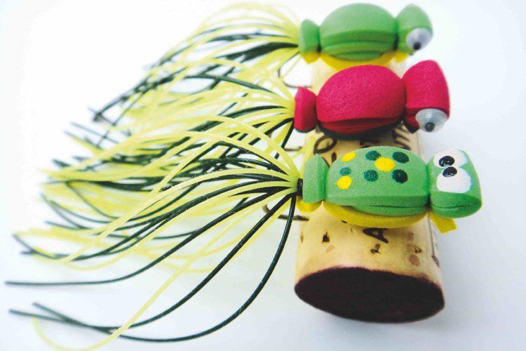 Frosch-Streamer, gebunden von Masanobu Ishige aus Tokio. Auch unsere Hechte und Forellen lieben diesen Oberflächenköder! Foto: M. Ishige