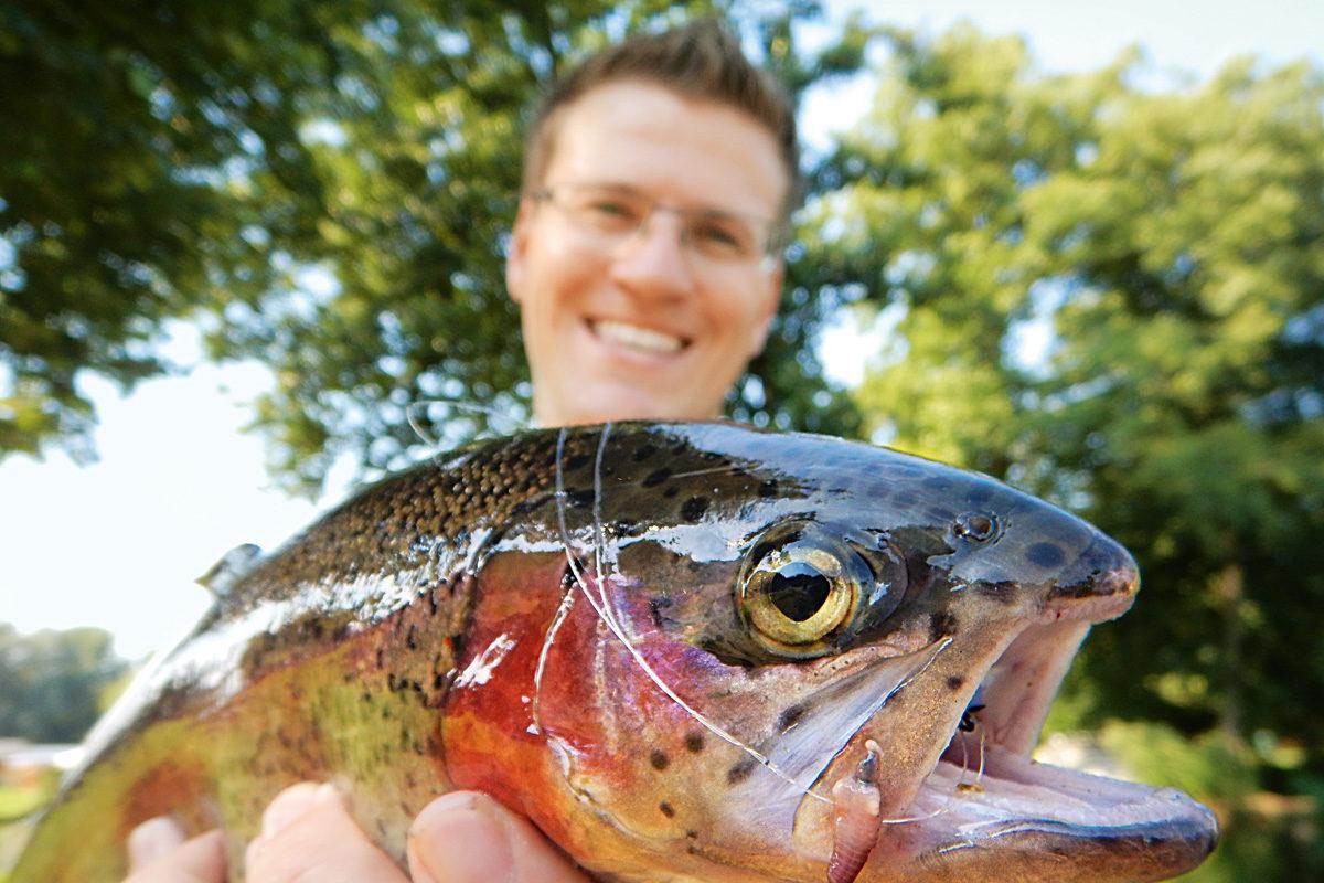 Zwar gibt es nur eine begrenzte Auswahl an Forellenseen im Saarland, jedoch bieten diese Gewässer reichlich Potenzial. Foto: G. Bradler