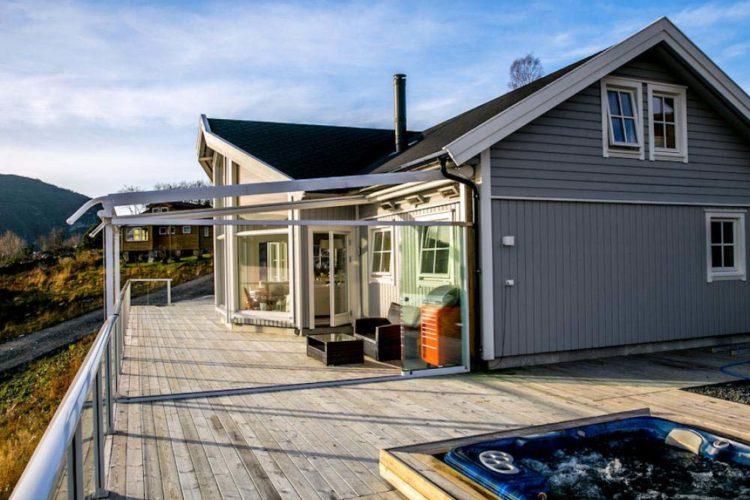 Das neu erbaute Ferienhaus von Borks macht Euren Angelurlaub am Dalsfjord perfekt.